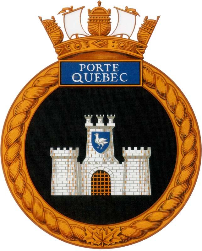 Hmcs porte quebec badge the canadian navy for Porte quebec