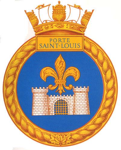 Hmcs porte st louis badge the canadian navy for Porte st louis